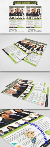 CreativeMarket - Global Business Flyer Template