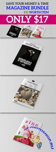 CreativeMarket - InDesign Magazine Bundle V1