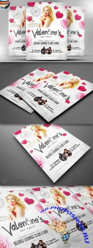 CreativeMarket - Valentine's Party Flyer