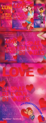 CreativeMarket - Love Party Flyer