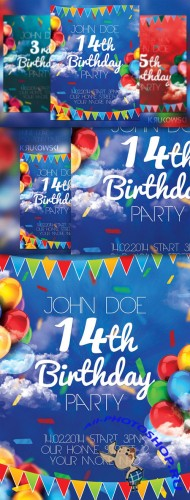 CreativeMarket - Birthday Party Flyer