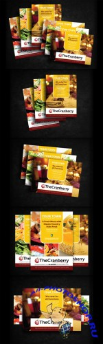 CreativeMarket - Cranberry Restaurant Advert Flyer