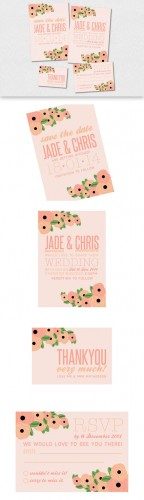 CreativeMarket - Floral Wedding Invitation