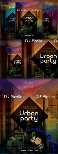 CreativeMarket - Urban Party Flyer