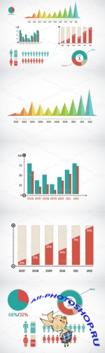 CreativeMarket - Detail infographic vector