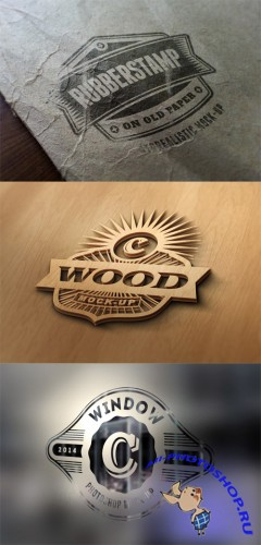 3 Photorealistic Logo Mock up Templates Vol 3