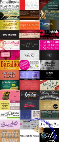 189 Commercial Fonts Collection