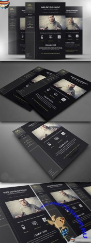 CreativeMarket - Code Nerds Flyer Template