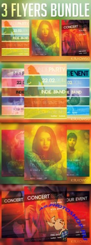 CreativeMarket - Indie Event Flyers Bundle
