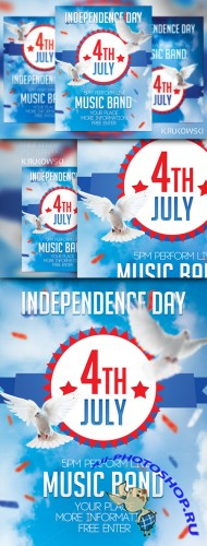 CreativeMarket - 4th July Flyer