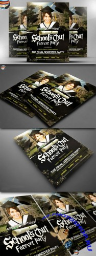 CreativeMarket - School's Out Forever Flyer Template