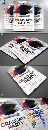 CreativeMarket - Graduate Party Flyer Template