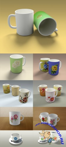 Mugs and Cups Mockup Templates