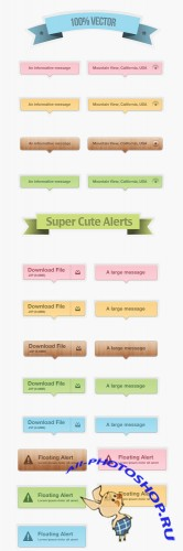 Super Cute Alerts PSD