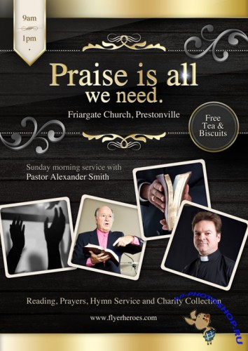 Flyer PSD - Praise is All We Need