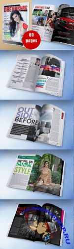 CreativeMarket - A4/Us letter_magazine template