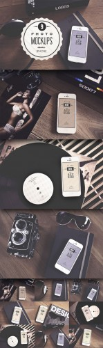 CreativeMarket - 9 Real iPhone photo mockups