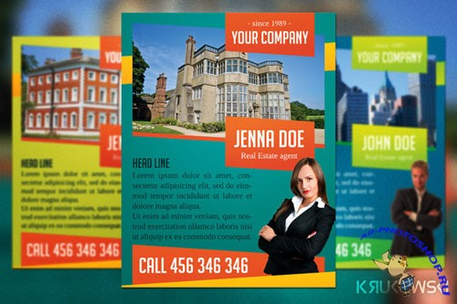 CreativeMarket - Real Estate Agent Flyer