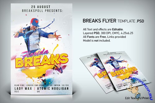 CreativeMarket - Breaks Flyer PSD Template