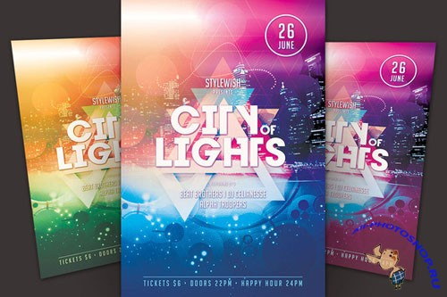 CreativeMarket - City of Lights Flyer