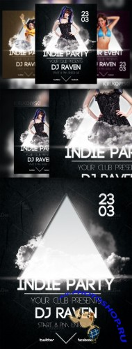 CreativeMarket - Black Indie Party Flyer