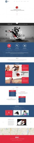 CreativeMarket - Kiing - One Page PSD Template 21010