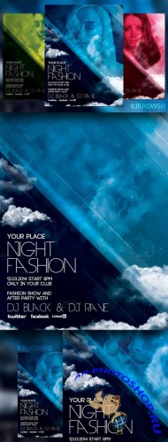 CreativeMarket - Fashion Night Flyer 21066