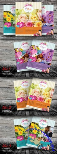CreativeMarket - Flower Shop Flyer Templates