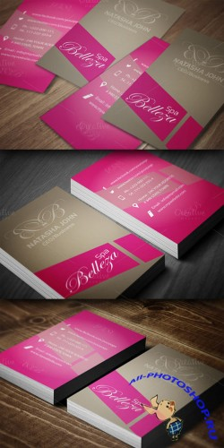CreativeMarket - Spa Business Card
