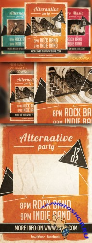 CreativeMarket - Alternative Party Flyer 20928
