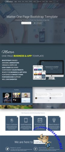 CreativeMarket - Matter - OnePage Business Template