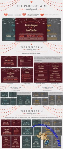 CreativeMarket - Perfect Aim Wedding Pack