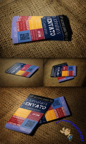 CreativeMarket - Metro VIP Pass Card - Business Card PSD Template