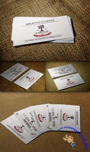 CreativeMarket - Retro Business Card 51089 - PSD Template #3