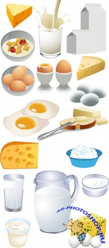 Dairy Products Vector Set