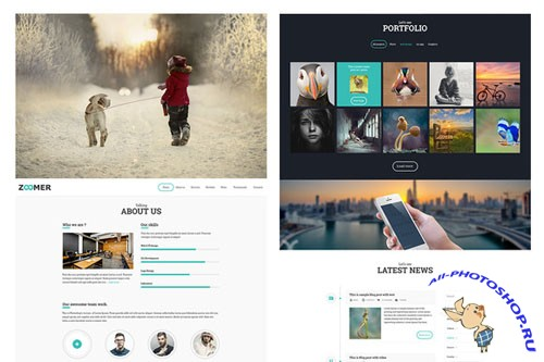 Creativemarket - Zoomer PSD Website Template