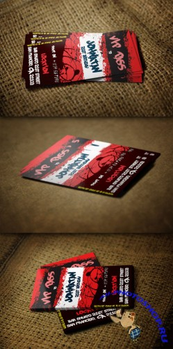 CreativeMarket - Colorful VIP Pass Card Template