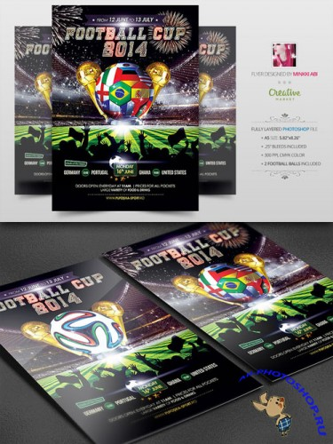 CreativeMarket - Football Cup 2014 Poster | Flyer