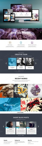 CreativeMarket - Pilot - One Page PSD Template