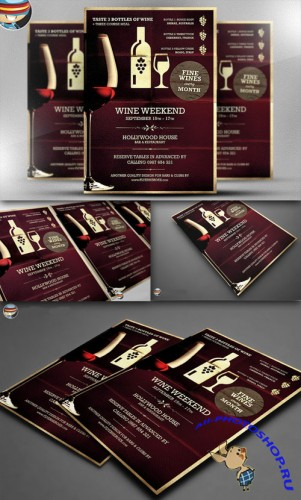 CreativeMarket - Wine Night Poster Template