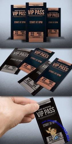 Creativemarket - Elegant leather style VIP PASS card