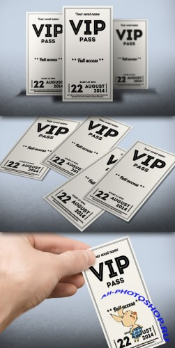 Creativemarket - Clean retro style VIP PASS card 52108