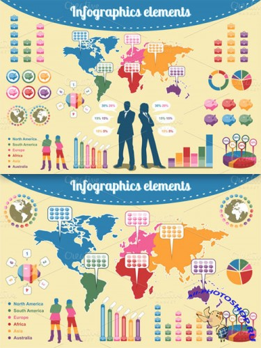 CreativeMarket - Infographics elements 4073