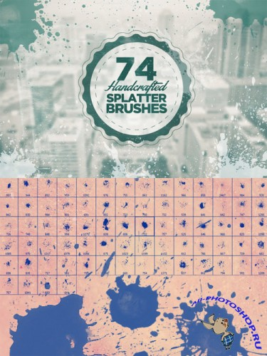 74 Splatter Photoshop Brushes