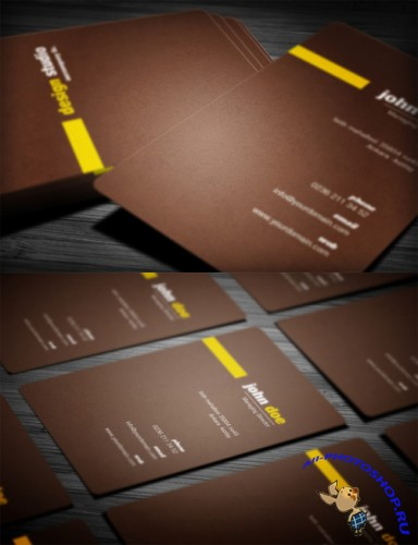 Creative Brown Business Card PSD