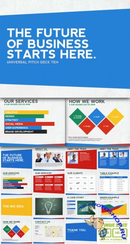 CreativeMarket - Universal Pitch Deck Ten PowerPoint 8558
