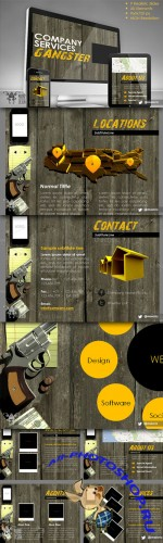 CreativeMarket - Gangster Company PPT - PowerPoint Presentation Template