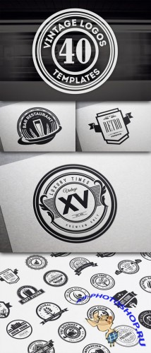 Creativemarket - 40 Vintage Logos and Badges V12