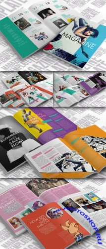 CreativeMarket - Indesign Magazine Template 21141