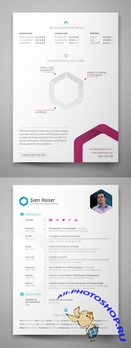 Vita Resume Template Insesign